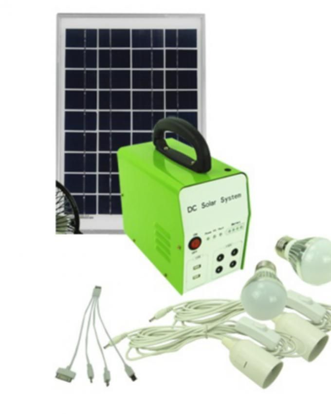 Bovic 10w 12v Portable Home Solar Lighting System Green