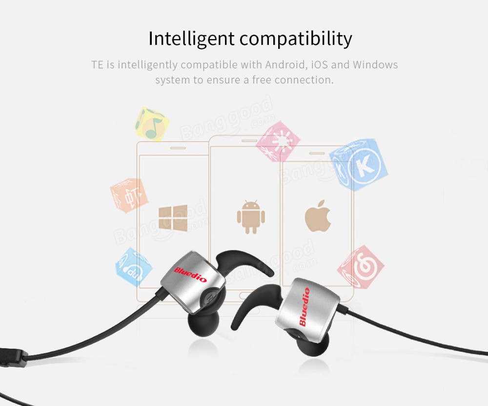 Bluedio Te Sports Bluetooth Wireless In Ear Sweat Proof Earbuds With Ufo Premium Headset High End Headphones