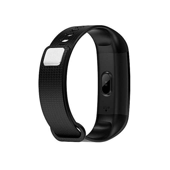 Y50 Wristband Heart Rate Blood Pressure Smart Bracelet Watch - Black