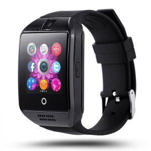 Q18 Smart Watch Phone Black